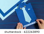 making greeting card for father'... | Shutterstock . vector #622263890