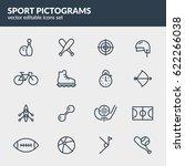 sport pictograms set. editable... | Shutterstock .eps vector #622266038