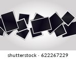composition of realistic black... | Shutterstock .eps vector #622267229