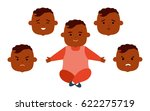 toddler african american with...   Shutterstock .eps vector #622275719