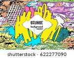grunge border. hip hop music... | Shutterstock .eps vector #622277090
