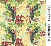 tropical pattern with exotic...   Shutterstock .eps vector #622277534