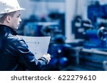 young successful engineer in a... | Shutterstock . vector #622279610