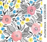 watercolor seamless pattern... | Shutterstock . vector #622281308
