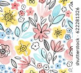 watercolor seamless pattern...   Shutterstock . vector #622281326