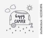 vector illustration happy... | Shutterstock .eps vector #622281896