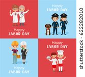 happy labor day greeting card... | Shutterstock .eps vector #622282010