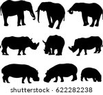 african three types shape of... | Shutterstock .eps vector #622282238