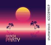 beach party poster vector... | Shutterstock .eps vector #622289819