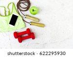 sport accessories. sport womens ... | Shutterstock . vector #622295930