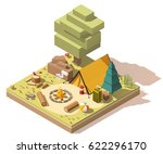 vector isometric low poly... | Shutterstock .eps vector #622296170