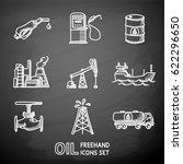 set of chalk handdrawn oil... | Shutterstock .eps vector #622296650