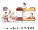 university students friends... | Shutterstock .eps vector #622300934