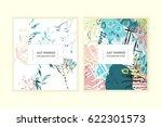 wedding invitation card.... | Shutterstock .eps vector #622301573