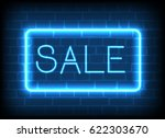 neon sign sale in a frame . | Shutterstock .eps vector #622303670