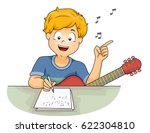 illustration of a little boy... | Shutterstock .eps vector #622304810
