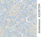 paisley floral oriental ethnic...   Shutterstock .eps vector #622307294