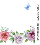 painted watercolor composition... | Shutterstock . vector #622307360