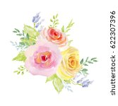 painted watercolor composition... | Shutterstock . vector #622307396