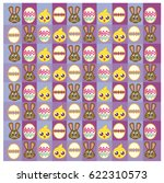 easter bunny and chick... | Shutterstock .eps vector #622310573