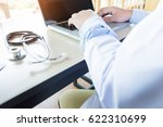 close up of unknown male doctor ... | Shutterstock . vector #622310699