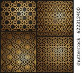 set of islamic oriental... | Shutterstock .eps vector #622312400