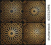 set of islamic oriental...   Shutterstock .eps vector #622312496