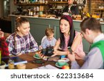 cheerful group of students and... | Shutterstock . vector #622313684