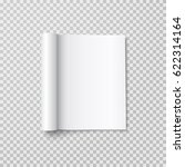 magazine with rolled white... | Shutterstock .eps vector #622314164