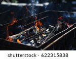 burning fire for grilling the... | Shutterstock . vector #622315838