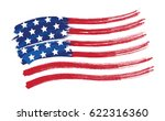 vector american flag sketch... | Shutterstock .eps vector #622316360