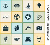 hot icons set. collection of... | Shutterstock .eps vector #622316978