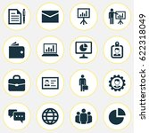 business icons set. collection...   Shutterstock .eps vector #622318049