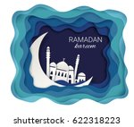 ramadan kareem background.... | Shutterstock .eps vector #622318223