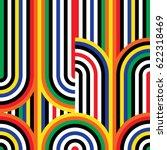 abstract vector seamless op art ... | Shutterstock .eps vector #622318469