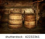 Old Wooden Vats In Rural...