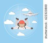 skydiving active sport. man in... | Shutterstock .eps vector #622323800