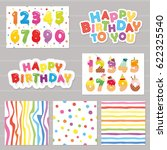 birthday celebration set. | Shutterstock .eps vector #622325540