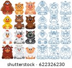 vector farm animals and pets... | Shutterstock .eps vector #622326230