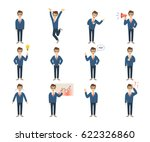 businessman character set on... | Shutterstock .eps vector #622326860