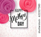 mother's day background with... | Shutterstock .eps vector #622327580