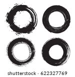 set of grunge circles.distress... | Shutterstock .eps vector #622327769