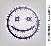 smiley icon. smile with opened... | Shutterstock .eps vector #622328414