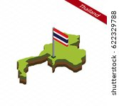 isometric map and flag of... | Shutterstock .eps vector #622329788
