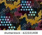 camouflage seamless pattern in... | Shutterstock .eps vector #622331408