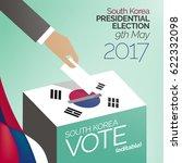 south korea presidential... | Shutterstock .eps vector #622332098
