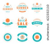 summer season sale badges and... | Shutterstock .eps vector #622332110