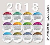 simple 2018 year vector...   Shutterstock .eps vector #622332398