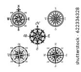 compass or wind rose marine... | Shutterstock .eps vector #622336328
