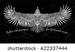 sketch of bird. tattoo art.... | Shutterstock .eps vector #622337444